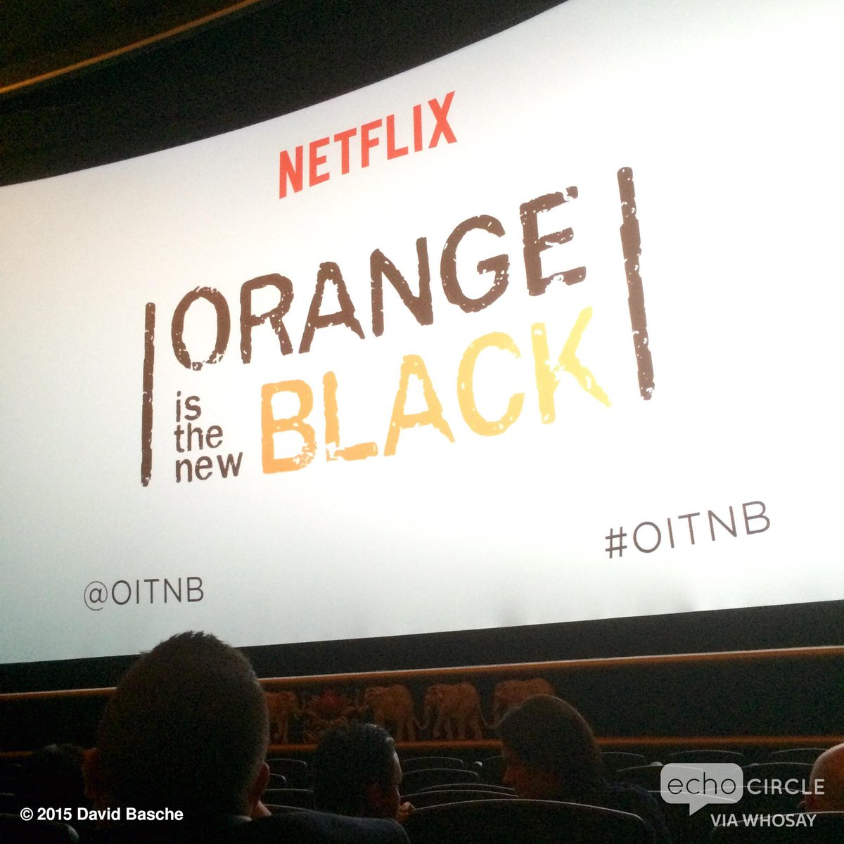 At the cast & crew screening of @OITNB season 3! Gonna be quite a week, @alysiareiner #OITNB http://t.co/0umBWNdN1y