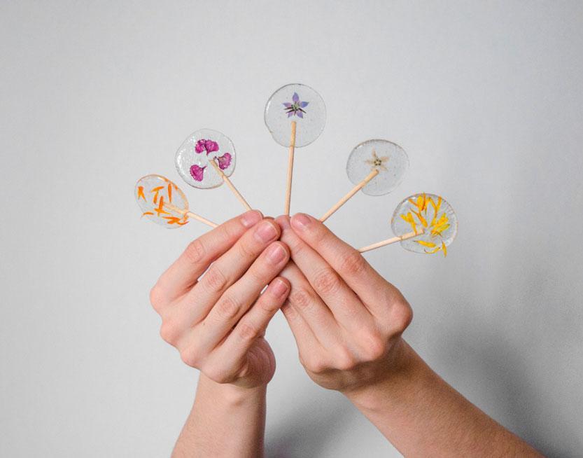 DIY Lollipop con flores