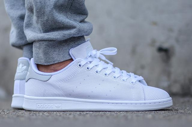 adidas stan smith grey and white