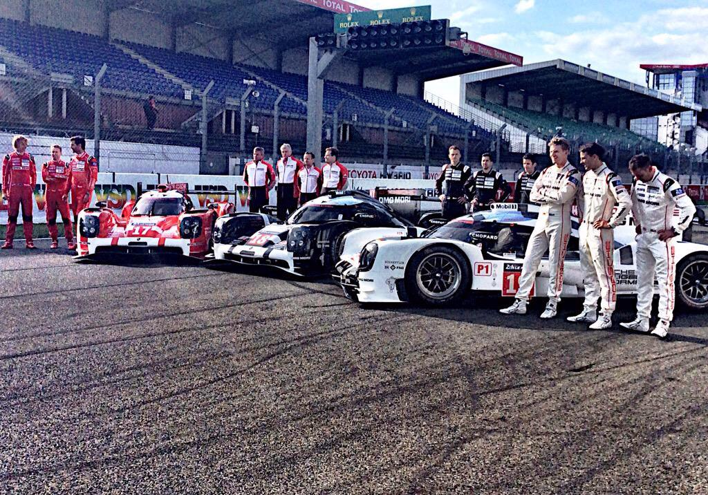 Wow! First three places in quailfying?! Go @PorscheRaces. Good luck in this weekend's @24hoursoflemans race! ???? http://t.co/HWjmZjcDpV