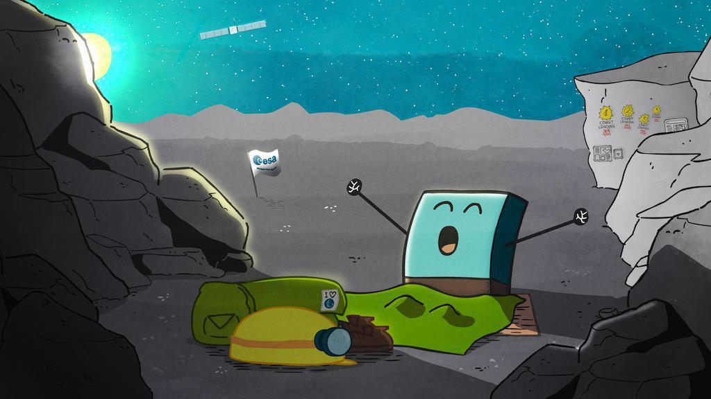 Unglaubliche News: @Philae2014 ist wieder #wach! @ESA_Rosetta freut sich sehr... cc @DLR_de http://t.co/pVk9JVa26v