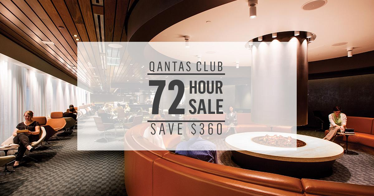 Been toying with the idea of Qantas Club membership? There's a 72 hour sale on...