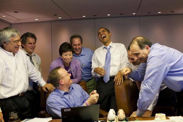 Obama and his team watching Trump announce he's running for president http://t.co/zapsWBaNpU