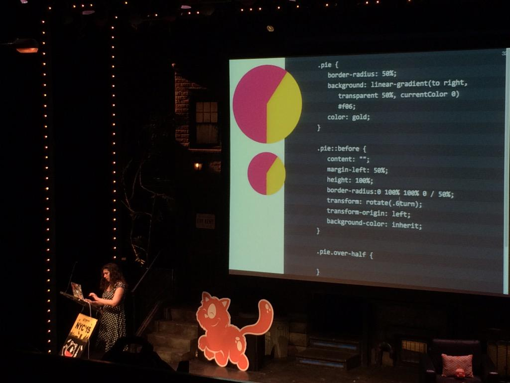Bottom line of the @LeaVerou talk at #smashingconf is keep iterating and don't settle for code that just works. http://t.co/wBpEDuQXdh