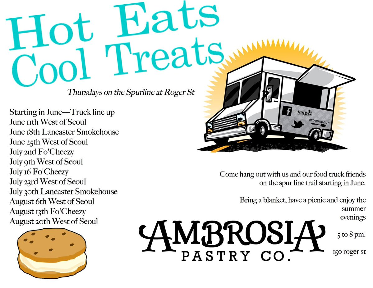 """DailyDish: """"Hot Eats Cool Treats"""" today at 5pm @Ambrosia_Pastry teams up w/ @LancSmokehouse  http://t.co/Ecgbjgqdpu http://t.co/OQmwU8XyJ5"""