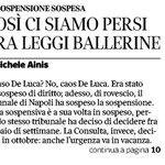 """Non basta sentenziare che la legge va cambiata, così da non """"sporcarsi le mani"""". Questo caos Renzi poteva evitarlo. http://t.co/F1SmmF5xX0"""