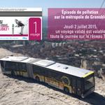 Episode de #pollution sur la métropole de #Grenoble. Jeudi 2 juillet, 1 voyage validé est valable toute la journée http://t.co/fQ26p6vFEU