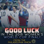 Philly is rooting for you, @ussoccer_wnt! #USA #USA #USA http://t.co/KPxvaRV5Mi