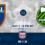 Coming Up: @RealSaltLake vs. @TimbersFC in 2013 Semifinal rematch. WATCH at 8pm MT: http://t.co/ltkCKCG8rw #USOC2015 http://t.co/JzXKvvJbXL