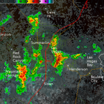 2:58 AM: Strong storms affecting much of the Las Vegas area currently. Movement is NW at 25-30 mph. Seek shelter! http://t.co/jwVV7FRZ8A