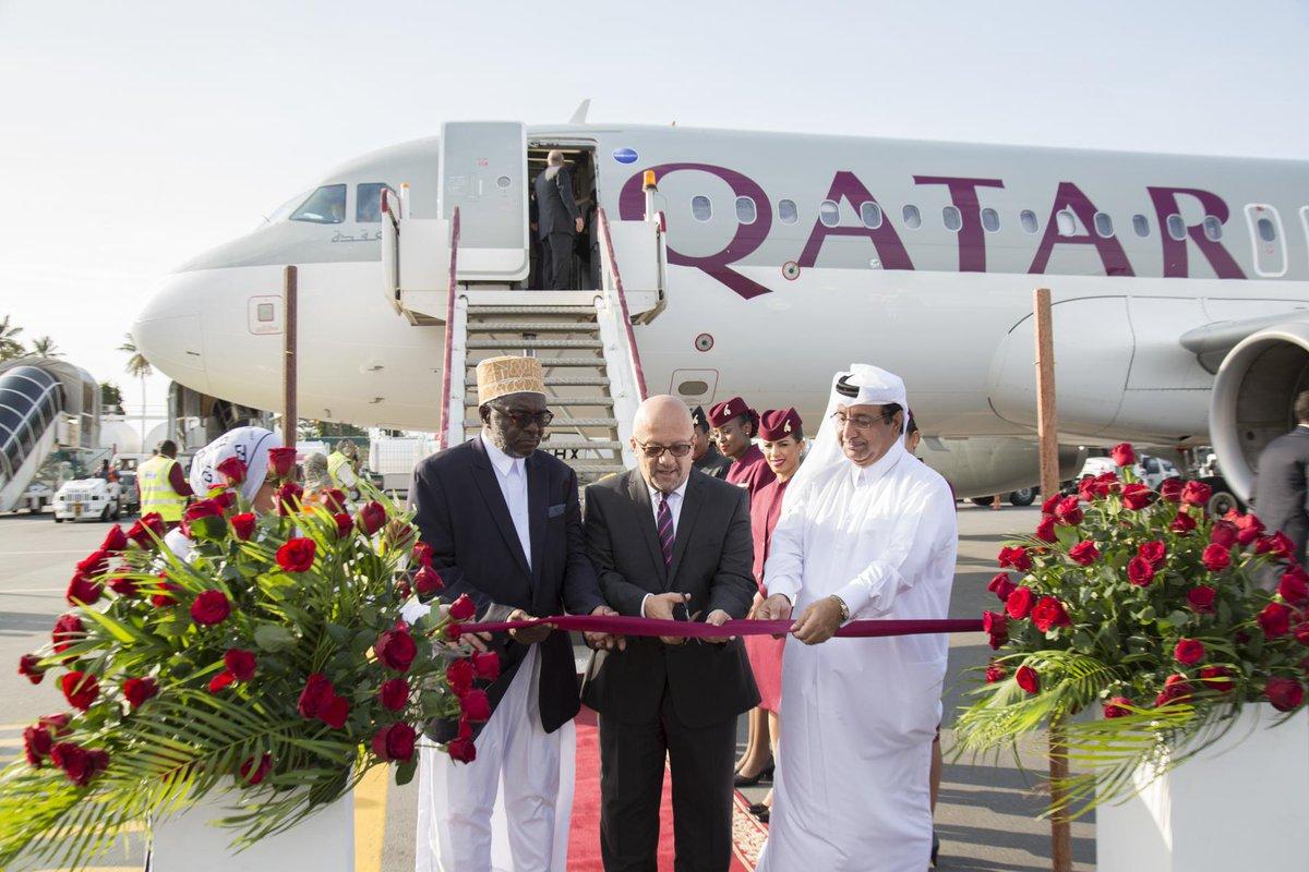 QatarAirways lands in the Spice Island of Zanzibar.