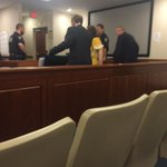 Rachel Ball in the yellow outfit was crying on her way into court. Pleads not guilty to murder charges. http://t.co/1gsVDHILMo