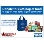 $25 is all it costs to buy this bag for donation to @SiloamMission! @FiveHoleForFood #FHFF #Winnipeg http://t.co/yiP0qI87ch