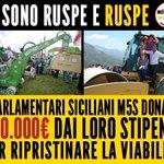 Ci sono ruspe e ruspe. Quelle del M5S riparano le strade grazie ai soldi dei deputati siciliani! http://t.co/Y4sXp23mYB