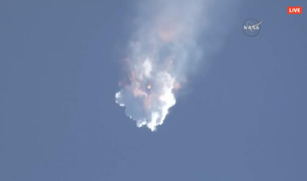 Just watched the @spacex #Falcon9 fall apart - not good at all http://t.co/sabCpRySSh