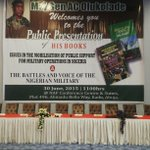 The Battles and Voice of The Nigerian Military by Maj Gen Chris Olukolade http://t.co/4kBK4kQcwc