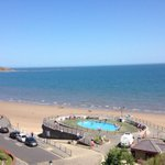 Swimming pool AT the beach! Filey, Scarborough. @OfficialFiley @Scarborough_UK @EnglandVacation #beach #holiday http://t.co/94MsWiAbGy