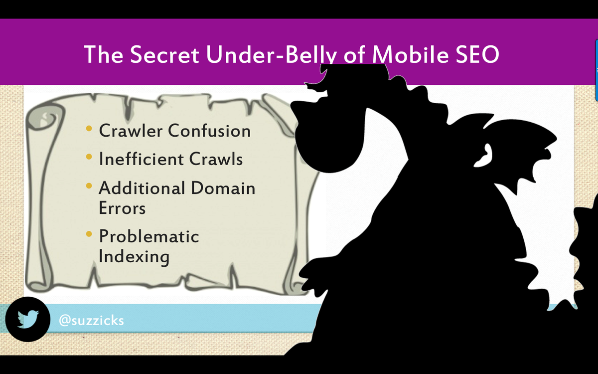 BONUS SLIDE: Most common question: how is #MobileSEO different from desktop SEO? WAY more technical. #mozcon http://t.co/4Z3mu4u3ND