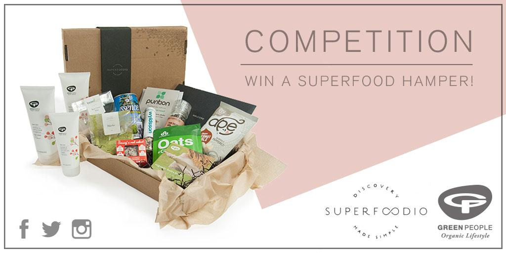 #WIN a superfood box full of tasty treats! RT/Follow @GreenPeopleUK & @Superfoodio to enter! #competition #giveaway http://t.co/l3u6xKPYio