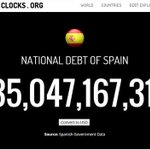 TREMENDO: El deute públic espanyol puja 90.000€ cada minut, 129M€ cada dia. Impossible de pagar ni en 100 anys. #27S http://t.co/qZpVpZnT7W