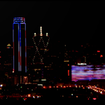 Big D wearing its holiday best of red, white & blue. And to top it off, great weather for tonights fireworks. http://t.co/ZHPWtctJay