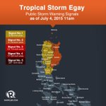 As of 11am: #EgayPH slightly accelerated and moves closer to northern Luzon. #WeatherAlert http://t.co/MJC2eARGro http://t.co/TaHEEgtvx7