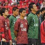 セレモニーを見つめる、ANTLERS LEGENDSの選手たち。それぞれ、思いがあります。#encore0705 #kashima #antlers http://t.co/tftdw2RaEh