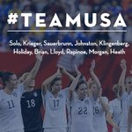 Tonights lineup for #USAvJPN! We #Believe! #OneMore #USA #USA #USA http://t.co/5db7FbpJL7