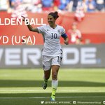 .@adidas Golden Ball (Player of Tournament): @CarliLloyd #USA Silver: @amandinehenry6 #FRA Bronze: Aya Miyama #JPN http://t.co/bJaM8o9hNl