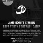 Ill be out in Palm Desert this Saturday with @RAIDERS cornerback James Dockery for his free clinic. Check it out. http://t.co/oEctWmWFQE