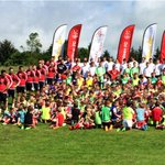 All of our #SoccerSchool2015 players and coaches along with the @AberdeenFC first team squad http://t.co/QvGZooBiIT