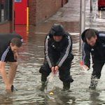 Photo: Aberdeen FC staff playing with rubber ducks during heavy flooding in the city http://t.co/raVY0Cr0RR http://t.co/I9szgbgeax