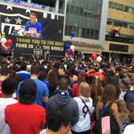Thousands gather @LALIVE for free 11am rally for #USWNT World Cup Victory. http://t.co/ccDxo4gZ3c