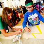 It was #shield painting day for our young Pages at @KnightCamp_AD #heraldry #SummerCamp #kids #Vancouver http://t.co/za32GrWV1G