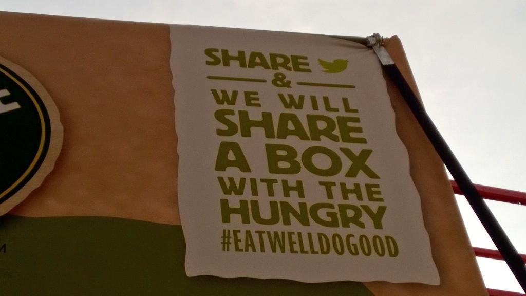 Tweets with the #EatWellDoGood hashtag will contribute to today's total! http://t.co/AkyEisXtoM