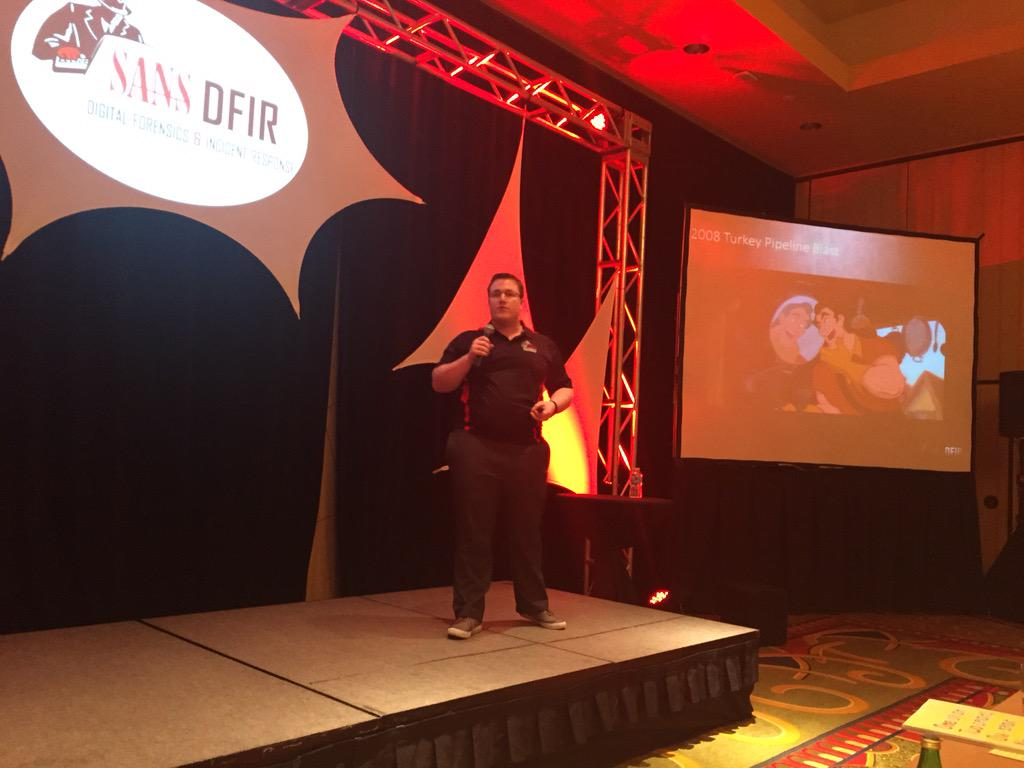 """#DFIRSummit @RobertMLee """"I'd like to talk about #ThreatIntel - just like Disney characters, most of it is made up."""" http://t.co/Ma9LnCTAfw"""