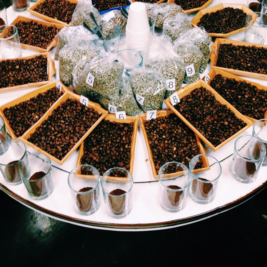 What's up with cupping? Well, we asked our head roaster and his answer is on the blog: http://t.co/gCzlVoQz3U http://t.co/RZiHP66DGl