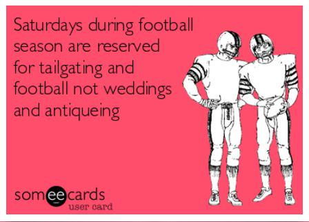Here's a heads-up for any #wedding planners out there uninitiated in the art of #tailgating. http://t.co/DBTnfXQilv