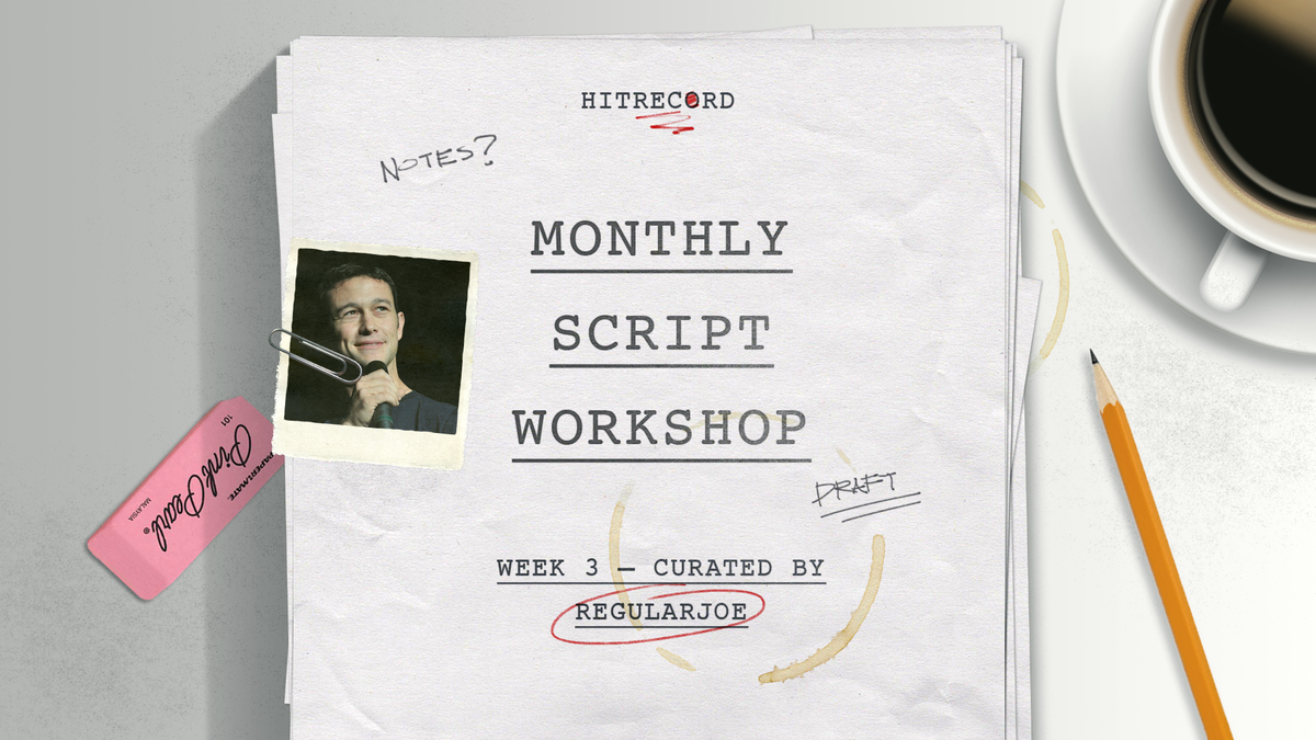 RT @hitRECord: We've started the next phase of the #MonthlyScriptWorkshop. Come write this screenplay w/ us - http://t.co/pmSWtz5asn http:/…