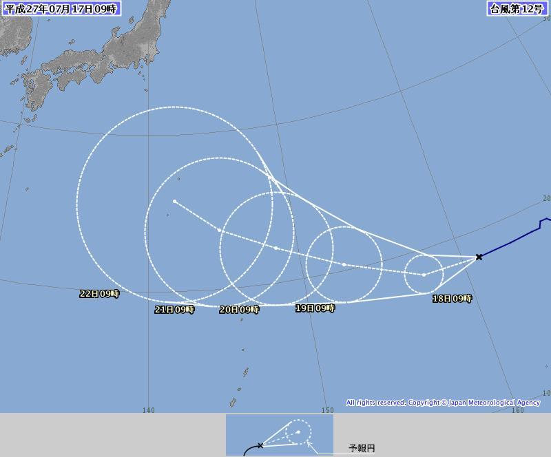 台風11号が過ぎたばかりですが、続いて12号が近づいています。来週後半にかけて注意が必要です。こちらのサイトでウェザーニューズ社の情報が確認できます。 #高知 #台風 :デジタル朝日http://t.co/4Yin2FPTid http://t.co/qsgq8O6E2y