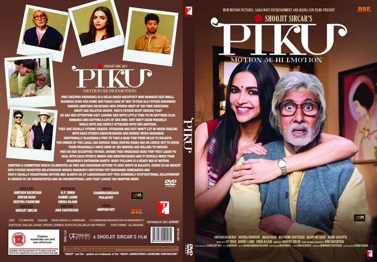 Piku  9/10 I absolutely loved it & the quirky dialogue between Amitabh Bachchan and Deepika Padukone was so natural. http://t.co/0I0D4x8a3p