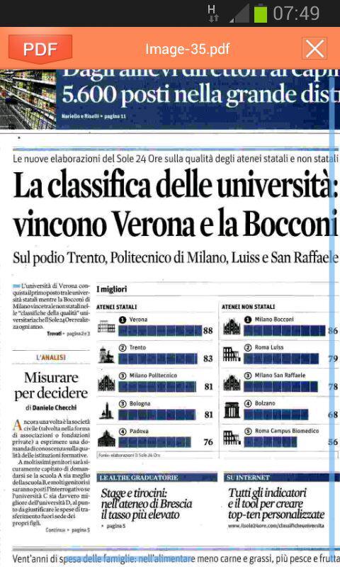 Il #sole24ore premia @UniVerona come miglior ateneo in #italia #formazione #universitá @sole24ore #ricerca http://t.co/U78gAXiE4j
