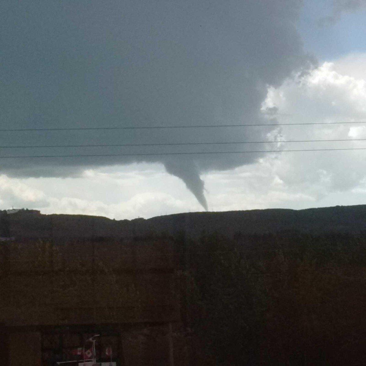 View from my wife's office in in NW Calgary. #abstorm http://t.co/ji9VMGDzSz