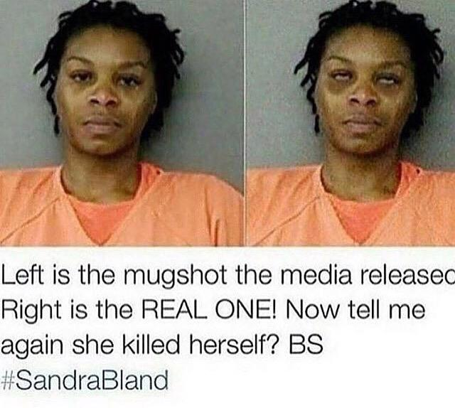 Why the 2 sets of mugshots?!! #SandraWasMurdered #SandraBland http://t.co/lcOVwrnoV8