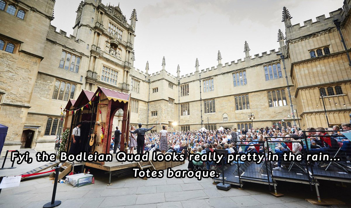 So you know: @The_Globe's #MuchAdo at @bodleianlibs will go ahead even if WEATHER keeps happening. Ponchos available! http://t.co/OoM1Ys6bve