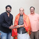 RT @BJPRajnathSingh: Met noted film actor Prabhas and Shri Krishnam Raju today. Looking forward to watch Prabhas' latest film 'Bahubali' ht…