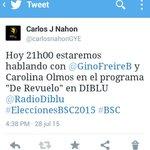 En breves minutos estaré en Diblu 88.9FM en el programa De Revuelo #EleccionesBSC2015 #BSC #Guayaquil http://t.co/ZxGk4Ch5yl