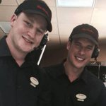 Sidney Crosby and Nathan MacKinnon working at a Tim Hortons. This is Canada: http://t.co/KsjLg9euDb http://t.co/a0SYrdwSj9