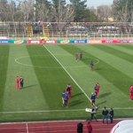 #LaU ya está en el estadio #LaGranja para enfrentar a #Curicó por #CopaChile todo lo informaremos por @Cooperativa http://t.co/ATwPmrgRu7