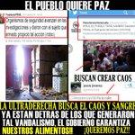 @yo212013: EL PUEBLO QUIERE PAZ, Y  LA  ULTRA DERECHA QUIERE VIOLENCIA! NO PODRAN CON ESTE PUEBLO!!  ALERTA   #TROPA http://t.co/d6Xdxw8WIK